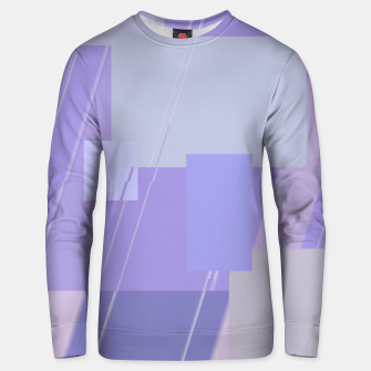 Miniature de image de Rectangles in lavender Unisex sweater, Live Heroes