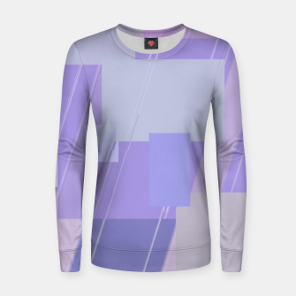 Thumbnail image of Rectangles in lavender Women sweater, Live Heroes