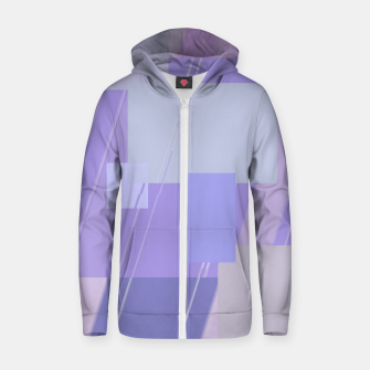 Miniature de image de Rectangles in lavender Zip up hoodie, Live Heroes