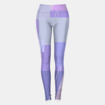 Thumbnail image of Rectangles in lavender Leggings, Live Heroes