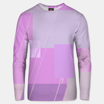 Thumbnail image of Rectangles in rose Unisex sweater, Live Heroes