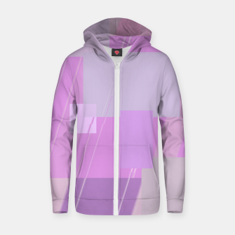 Miniature de image de Rectangles in rose Zip up hoodie, Live Heroes