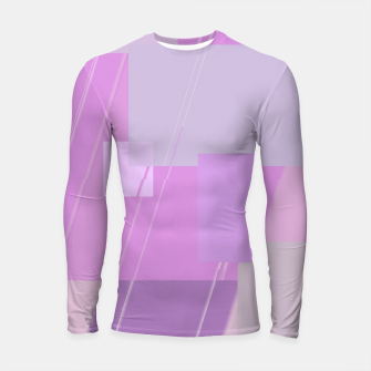 Thumbnail image of Rectangles in rose Longsleeve rashguard , Live Heroes