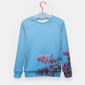 Thumbnail image of Lilac Kid's sweater, Live Heroes