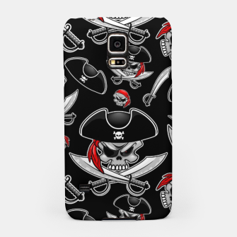 Miniaturka Skull Pirate Captain with Crossed Sabers Samsung Case, Live Heroes