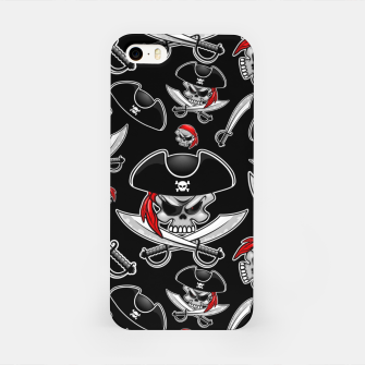 Miniaturka Skull Pirate Captain with Crossed Sabers iPhone Case, Live Heroes