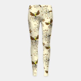 Thumbnail image of Phoenix Mythical Creature Girl's leggings, Live Heroes