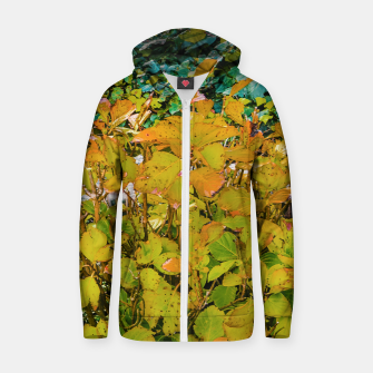 Miniature de image de Colored Nature Print Zip up hoodie, Live Heroes