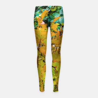 Miniature de image de Colored Nature Print Girl's leggings, Live Heroes