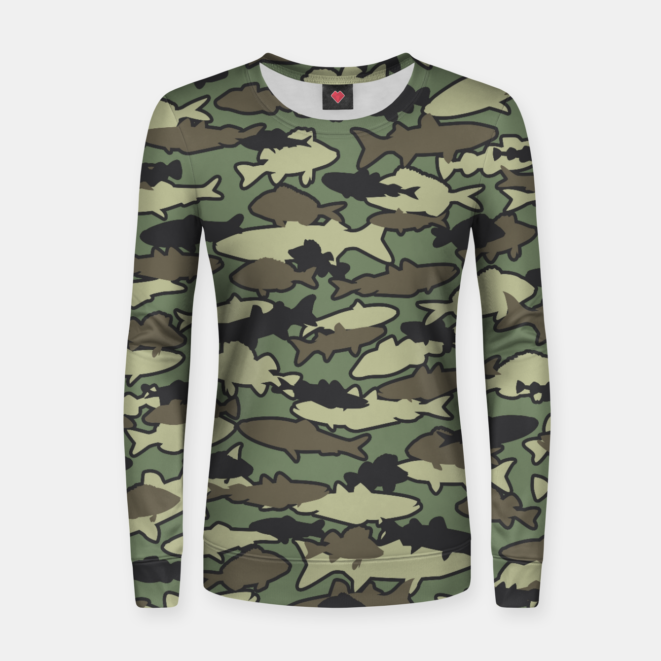 Image of Fish Camo JUNGLE Women sweater - Live Heroes