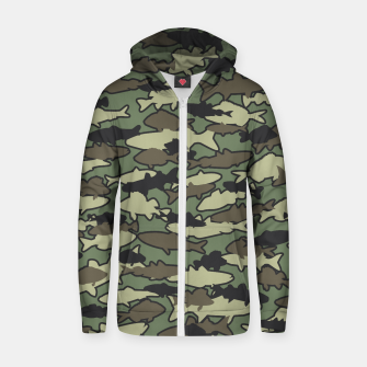 Thumbnail image of Fish Camo JUNGLE Zip up hoodie, Live Heroes