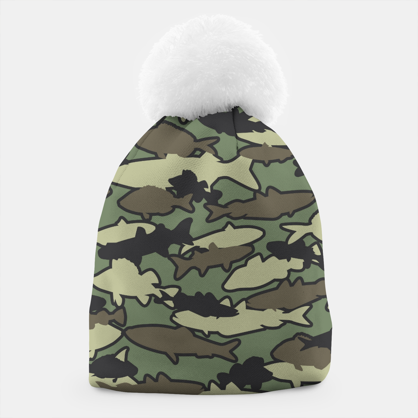 Image of Fish Camo JUNGLE Beanie - Live Heroes