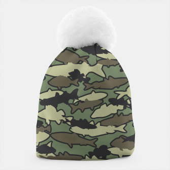 Thumbnail image of Fish Camo JUNGLE Beanie, Live Heroes