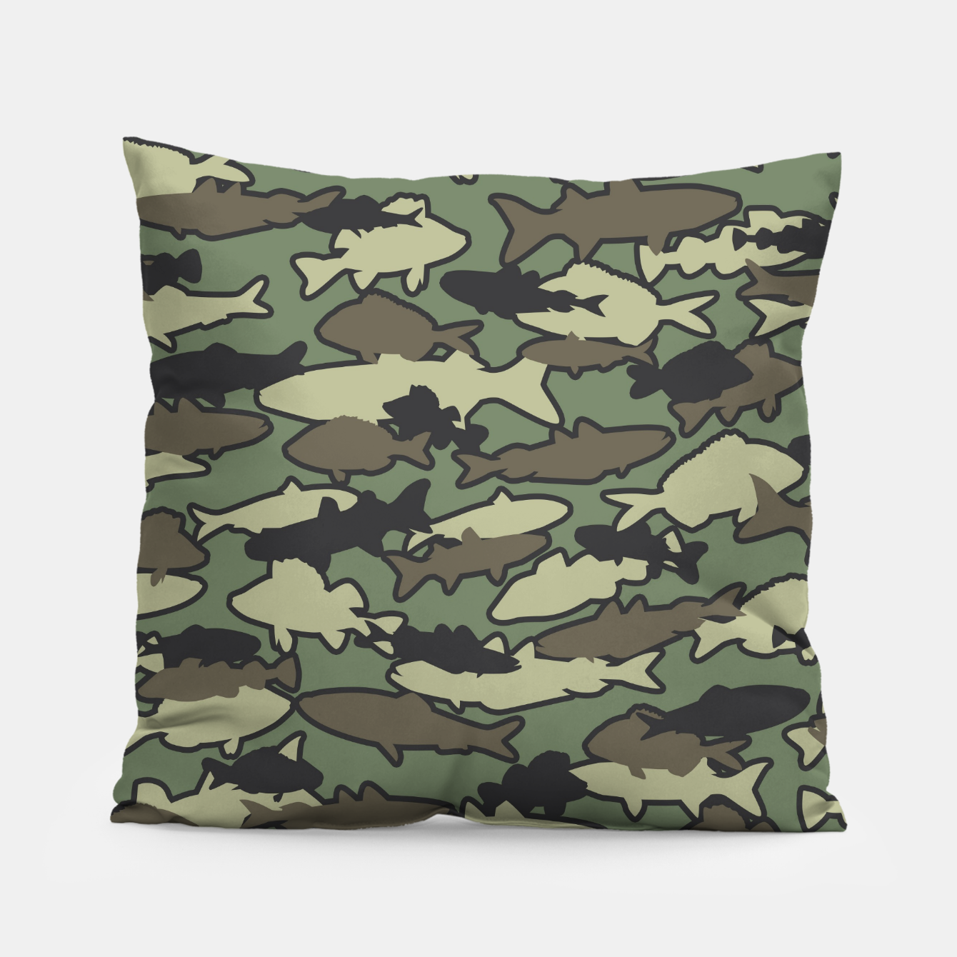 Image of Fish Camo JUNGLE Pillow - Live Heroes