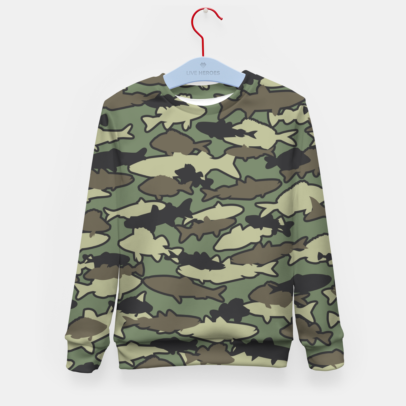 Image of Fish Camo JUNGLE Kid's sweater - Live Heroes