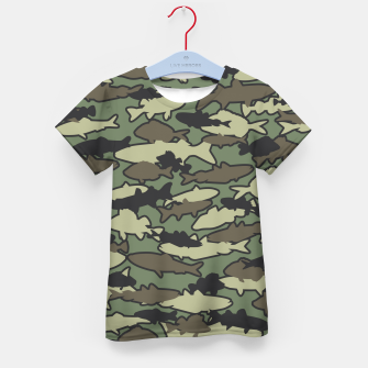 Thumbnail image of Fish Camo JUNGLE Kid's t-shirt, Live Heroes