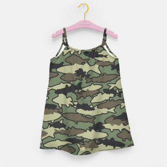 Fish Camo JUNGLE Girl's dress thumbnail image