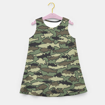Thumbnail image of Fish Camo JUNGLE Girl's summer dress, Live Heroes
