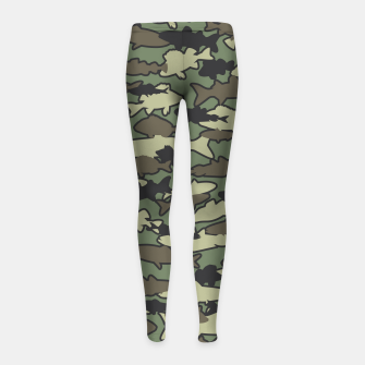 Thumbnail image of Fish Camo JUNGLE Girl's leggings, Live Heroes