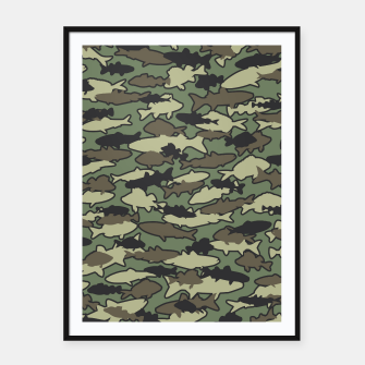 Thumbnail image of Fish Camo JUNGLE Framed poster, Live Heroes