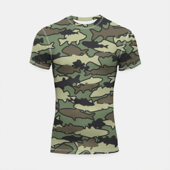 Thumbnail image of Fish Camo JUNGLE Shortsleeve rashguard, Live Heroes