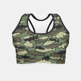 Thumbnail image of Fish Camo JUNGLE Crop Top, Live Heroes