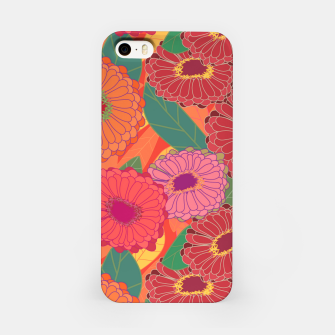 Thumbnail image of Fantasy Zinnias No. 1 iPhone Case, Live Heroes