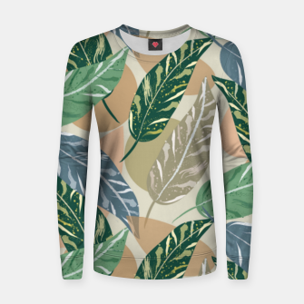 Miniatur Shell Ginger Leaves Women sweater, Live Heroes