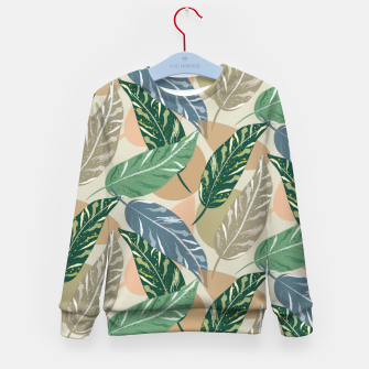 Miniatur Shell Ginger Leaves Kid's sweater, Live Heroes