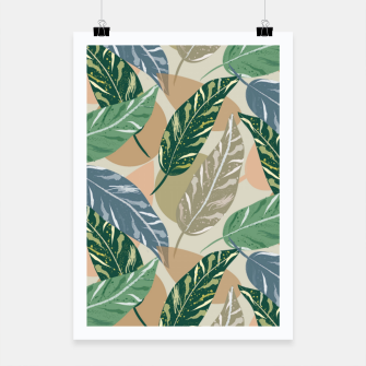 Miniatur Shell Ginger Leaves Poster, Live Heroes