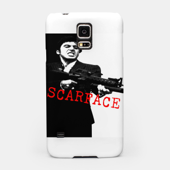 Thumbnail image of New Fashion Black Shirt For Mens Scarface Guns Apparels Gift T-shirt Samsung Case, Live Heroes