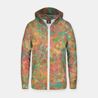 Thumbnail image of Peacock Marble Zip up hoodie, Live Heroes