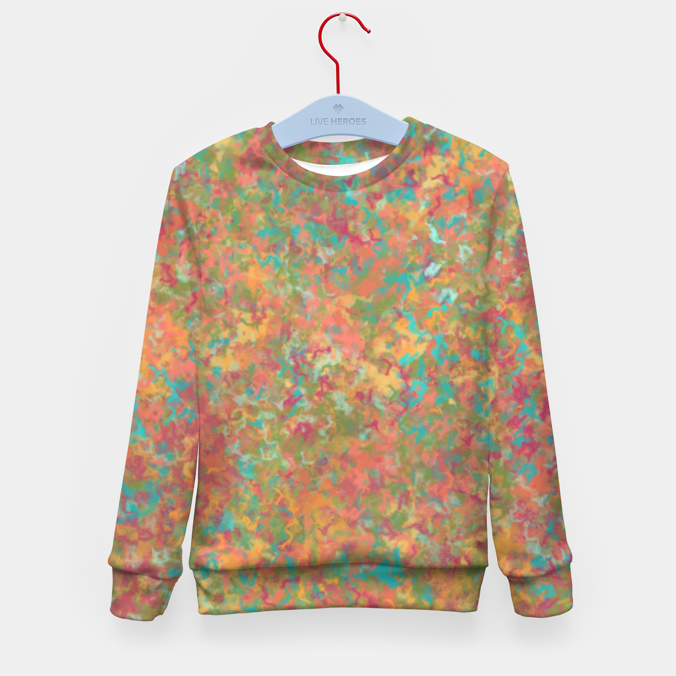 Image of Peacock Marble Kid's sweater - Live Heroes