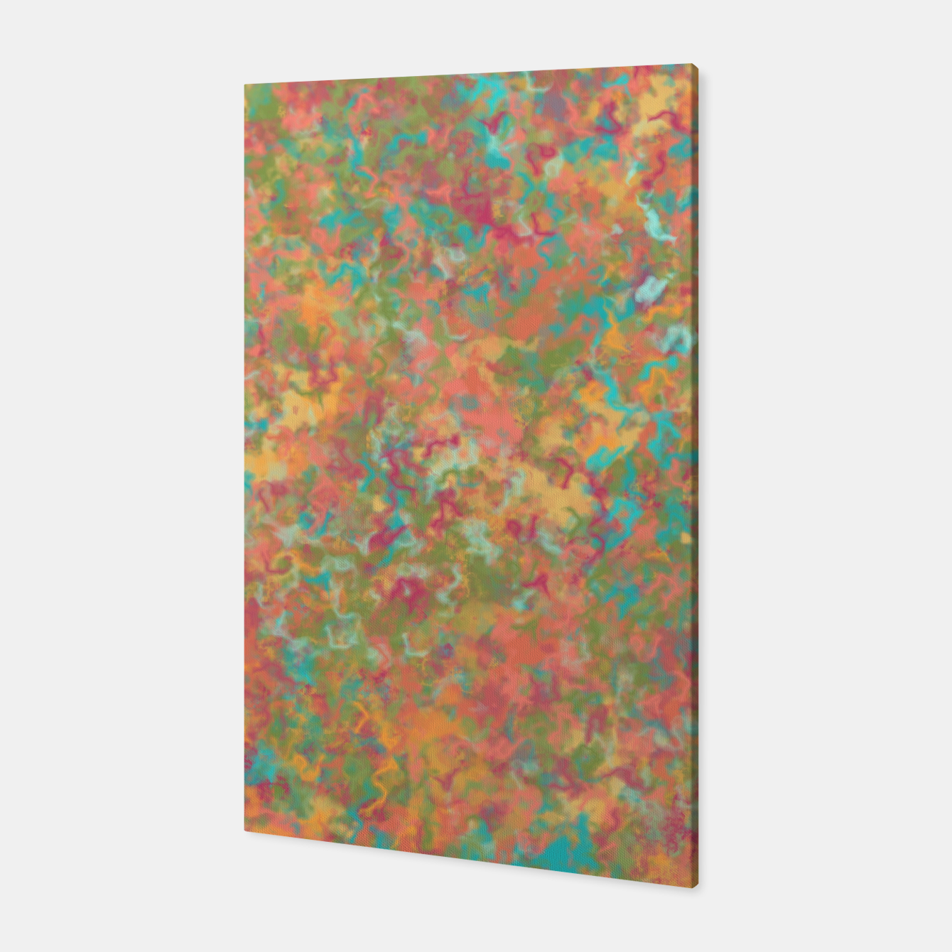 Image of Peacock Marble Canvas - Live Heroes