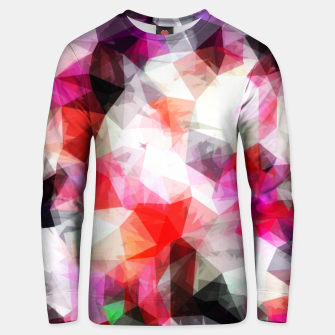 Miniatur geometric triangle pattern abstract background in pink purple Unisex sweater, Live Heroes