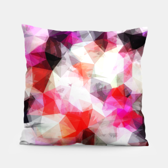 Thumbnail image of geometric triangle pattern abstract background in pink purple Pillow, Live Heroes
