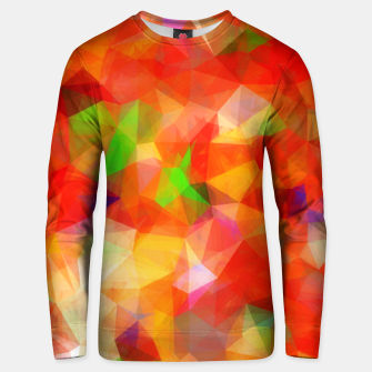 Miniatur geometric triangle pattern abstract background in red orange green Unisex sweater, Live Heroes