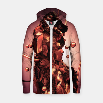 Thumbnail image of Copper Warrior 3D Glitch Zip Up Hoodie, Live Heroes