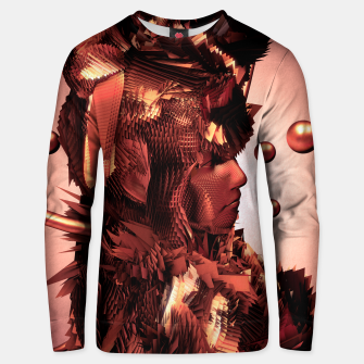 Thumbnail image of Copper Warrior 3D Glitch Unisex Sweater, Live Heroes