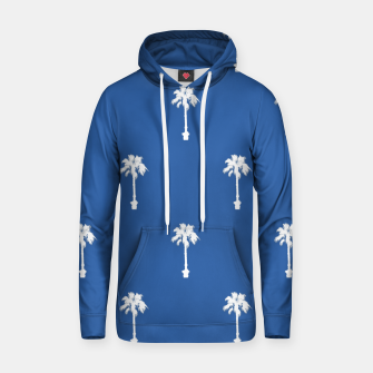 Thumbnail image of Palm silhouettes on blue Hoodie, Live Heroes
