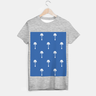 Thumbnail image of Palm silhouettes on blue T-shirt regular, Live Heroes