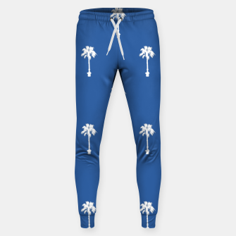 Thumbnail image of Palm silhouettes on blue Sweatpants, Live Heroes