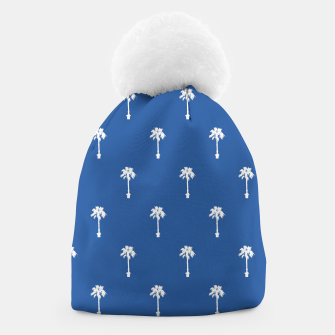 Thumbnail image of Palm silhouettes on blue Beanie, Live Heroes
