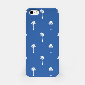 Thumbnail image of Palm silhouettes on blue iPhone Case, Live Heroes