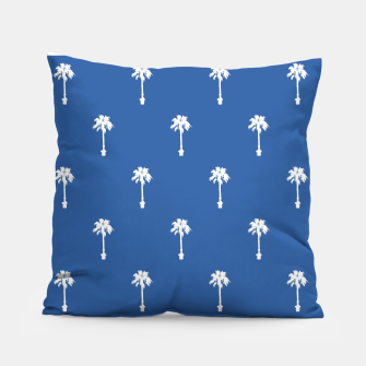 Thumbnail image of Palm silhouettes on blue Pillow, Live Heroes