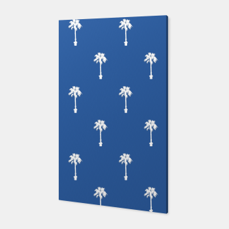 Thumbnail image of Palm silhouettes on blue Canvas, Live Heroes