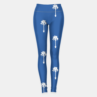 Thumbnail image of Palm silhouettes on blue Leggings, Live Heroes