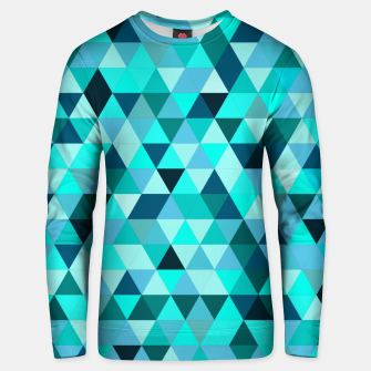 Thumbnail image of Teal Triangles Pattern Unisex sweater, Live Heroes