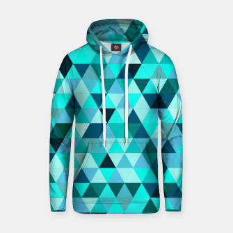 Thumbnail image of Teal Triangles Pattern Hoodie, Live Heroes