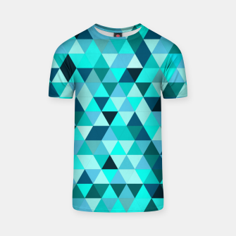 Thumbnail image of Teal Triangles Pattern T-shirt, Live Heroes